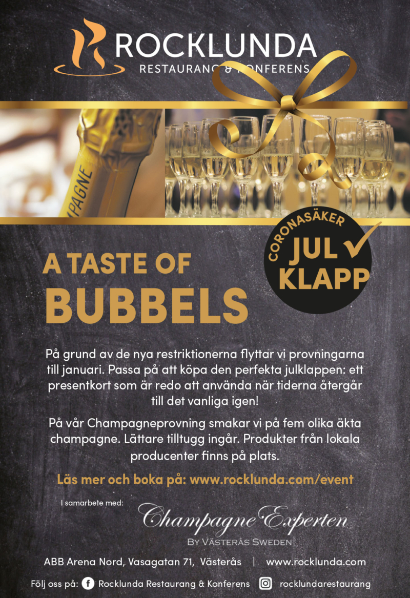 A taste of bubbles - event Rocklunda restaurangen